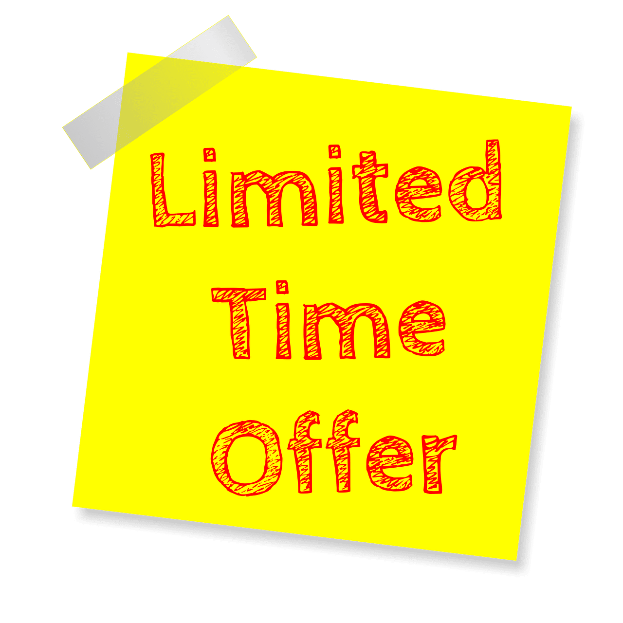 limited time offer, deal of the day, deal